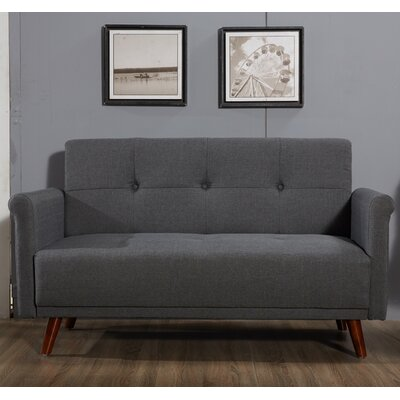 Loveseat Upholstery: Dark Gray