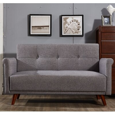 Loveseat Upholstery: Gray