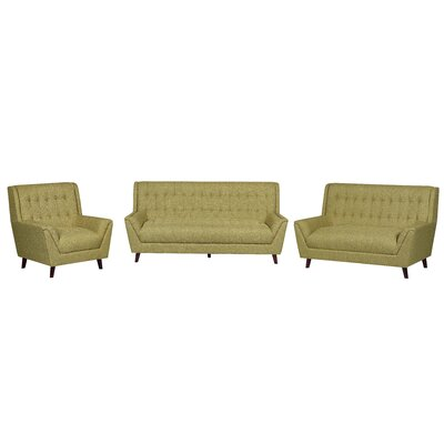 3 Piece Living Room Set Upholstery: Gold Yellow