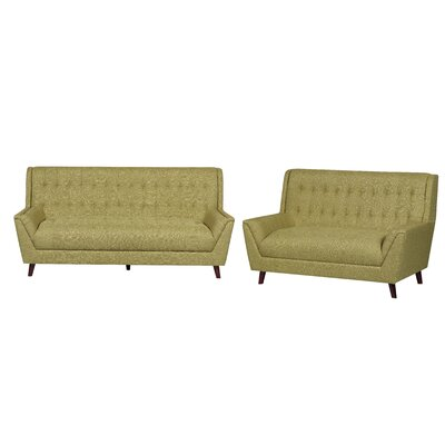 2 Piece Living Room Set Upholstery: Gold Yellow