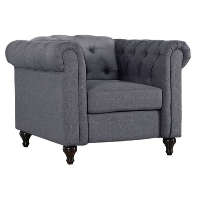 Jemima Chesterfield Chair Upholstery: Dark Gray