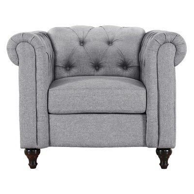 Jemima Chesterfield Chair Upholstery: Gray