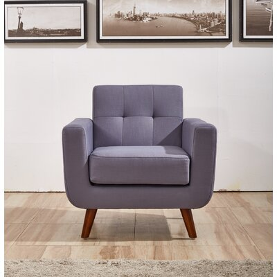 Lester Armchair Upholstery: Taupe Gray