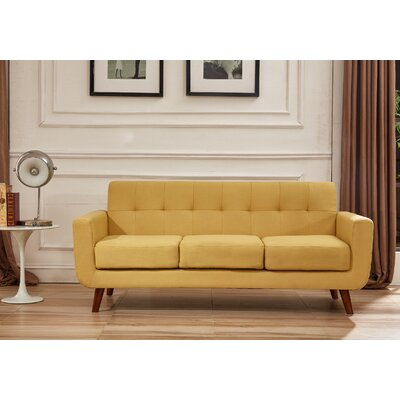 Lester Square Arms Sofa Upholstery: Naples Yellow