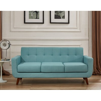 Lester Square Arms Sofa Upholstery: Eton Blue