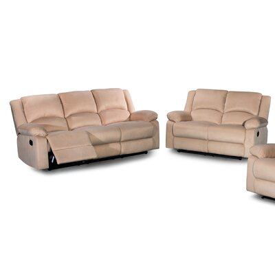 2 Piece Living Room Set Color: Tan