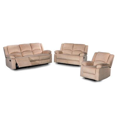 3 Piece Living Room Set Color: Tan