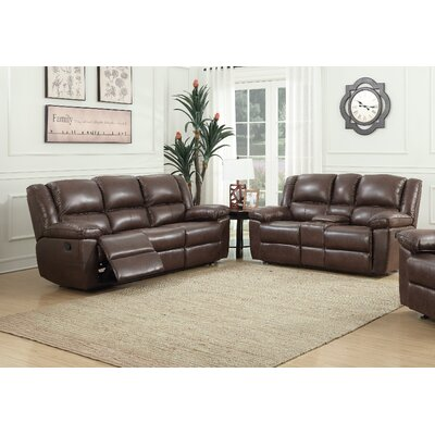 Sofa and Loveseat Set  Upholstery: Brown