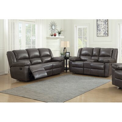 Sofa and Loveseat Set  Upholstery: Gray