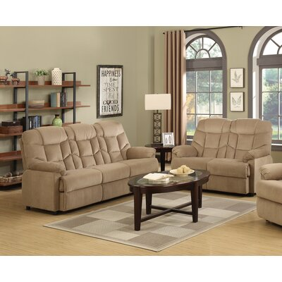 2 Piece Living Room Set Upholstery: Mocha