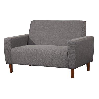 Mid Century Linen Loveseat Upholstery: Gray