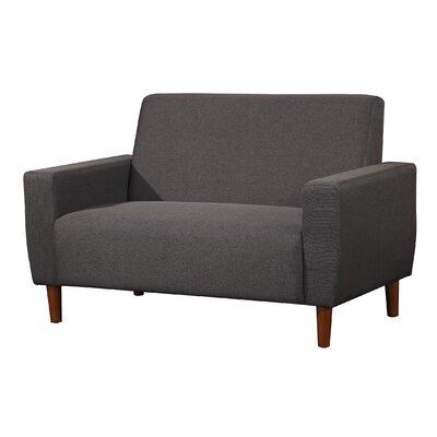 Mid Century Linen Loveseat Upholstery: Dark Gray