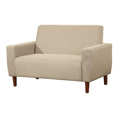 Container S5206-L Mid Century Linen Loveseat Upholstery