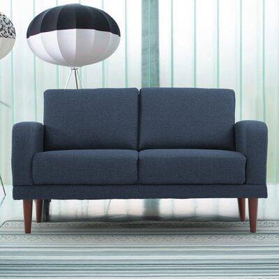 Linen Upholstered Loveseat Upholstery: Spruce Blue