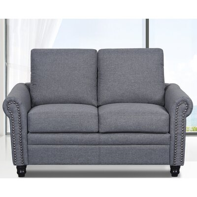 Linen Upholstered Loveseat Upholstery: Light Gray