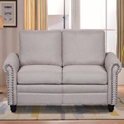 Linen Upholstered Loveseat Upholstery: Beige