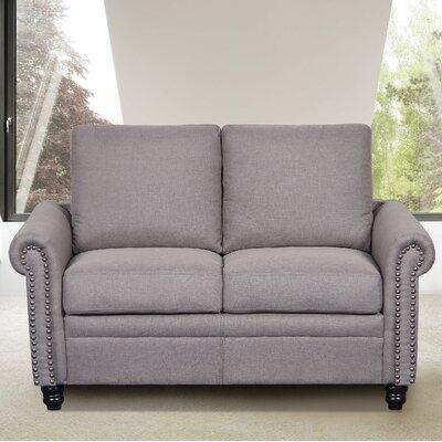 Linen Upholstered Loveseat Upholstery: Light Brown