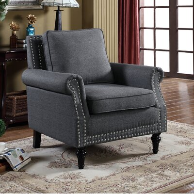 Upholstery Arm Chair Upholstery: Dark Gray