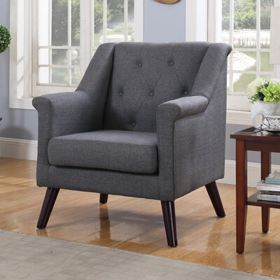 Tufted Armchair Upholstery: Dark Gray