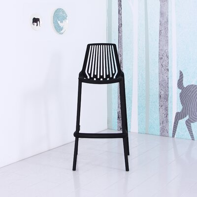Plastic 29.5 Bar Stool Finish: Black