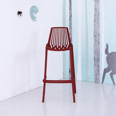 Plastic 29.5 Bar Stool Finish: Red