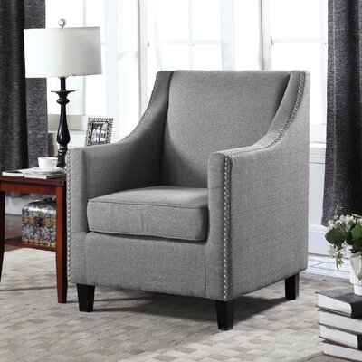 Upholstery Wingback Chair Upholstery: Gray