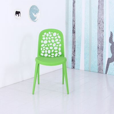 Plastic Side Chair Finish: Green