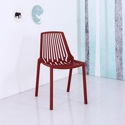 Plastic Side Chair Finish: Red