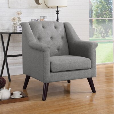 Tufted Arm Chair Upholstery: Gray