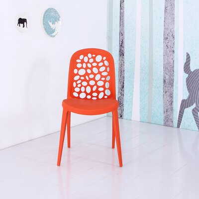 Plastic Side Chair Finish: Orange