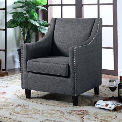 Upholstery Wingback Chair Upholstery: Dark Gray