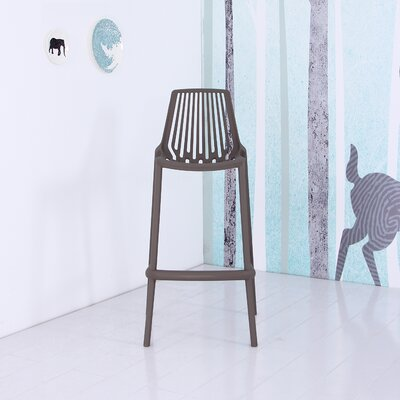 Plastic 29.5 Bar Stool Finish: Gray