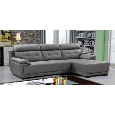 Tufted Sectional Upholstery: Gray, Orientation: Right Hand Facing