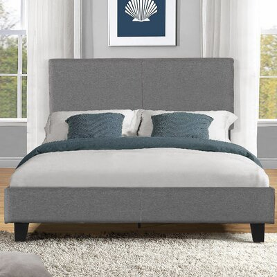 Platform Bed Size: Full, Upholstery: Grey
