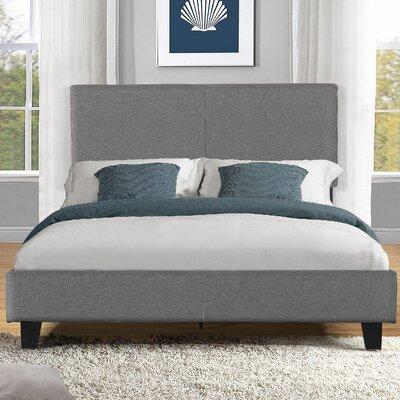 Platform Bed Size: Queen, Upholstery: Grey