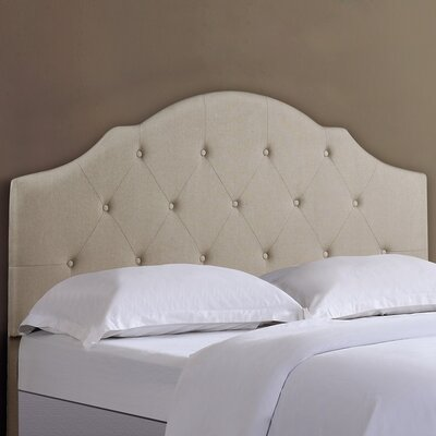 Full/Queen Upholstered Panel Headboard Upholstery : Beige