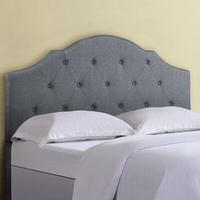 Full/Queen Upholstered Panel Headboard Upholstery : Gray