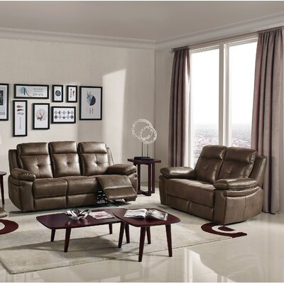2 Piece Living Room Set Upholstery : Brown