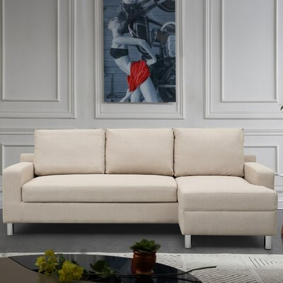 Sleeper Sectional Upholstery: Beige, Orientation: Right Hand Facing
