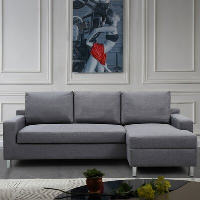 Sectional Upholstery: Dark Gray, Orientation: Right Hand Facing