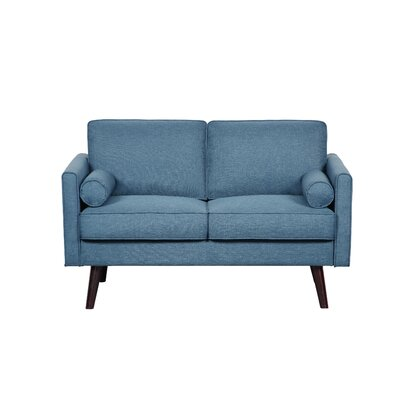 Fabric Loveseat Upholstery: Ocean Blue
