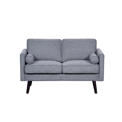 Fabric Loveseat Upholstery: Light Gray