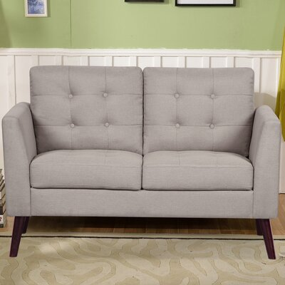 Fabric Loveseat Upholstery: Beige