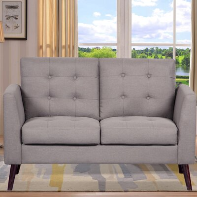 Fabric Loveseat Upholstery: Light Brown