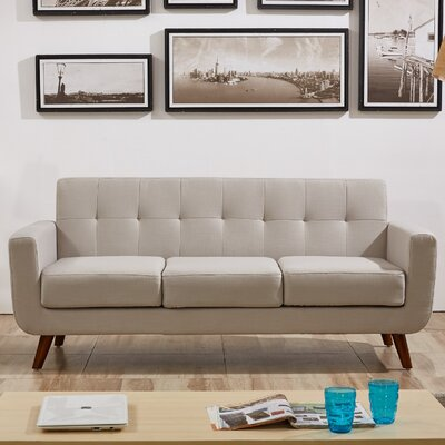 Lester Square Arms Sofa Upholstery: Tan