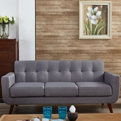 Lester Square Arms Sofa Upholstery: Gray