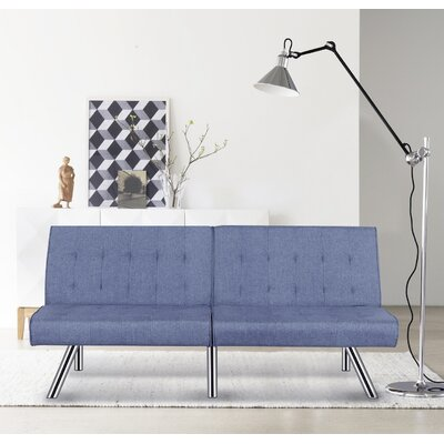 Jayden Sofa Bed Sleeper Upholstery: Ocean Blue