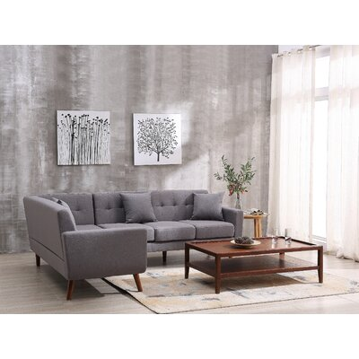 Barnet Sectional Upholstery: Gray, Orientation: Left Hand Facing