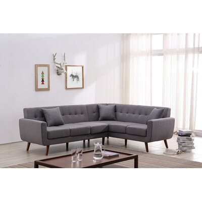 Barnet Sectional Upholstery: Gray, Orientation: Right Hand Facing