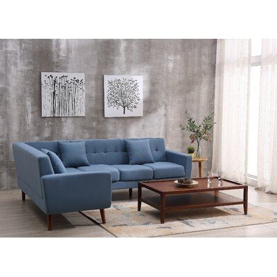 Barnet Sectional Upholstery: Paynrs Gray, Orientation: Right Hand Facing